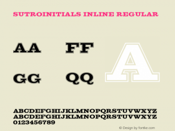 SutroInitials Inline Regular Version 5.00 Font Sample