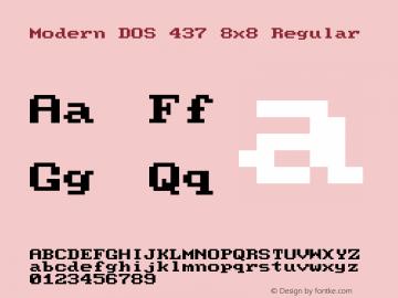 Modern DOS 437 8x8 Regular 2017.03.25图片样张