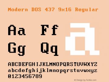Modern DOS 437 9x16 Regular 2017.03.25图片样张