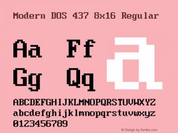 Modern DOS 437 8x16 Regular 2017.03.25图片样张