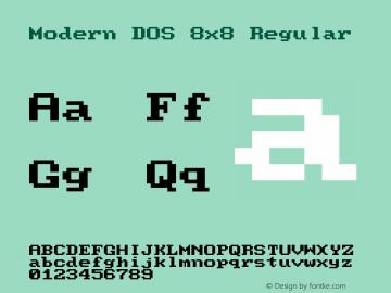 Modern DOS 8x8 Regular 2017.03.25图片样张