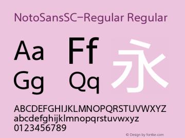 NotoSansSC-Regular Regular Version 1.00 March 27, 2017, initial release Font Sample