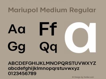 Mariupol Medium Regular Version 001.33 Font Sample