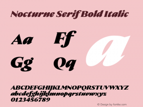 Nocturne Serif Bold Italic Version 1.000;PS 001.000;hotconv 1.0.88;makeotf.lib2.5.64775 Font Sample