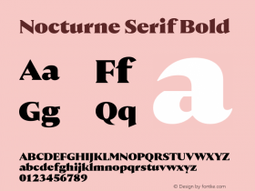 Nocturne Serif Bold Version 1.000;PS 001.000;hotconv 1.0.88;makeotf.lib2.5.64775 Font Sample