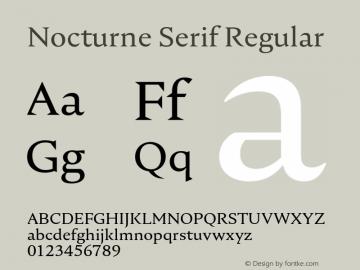 Nocturne Serif Regular Version 1.000;PS 001.000;hotconv 1.0.88;makeotf.lib2.5.64775图片样张