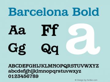 Barcelona Bold Version 1.00 Font Sample