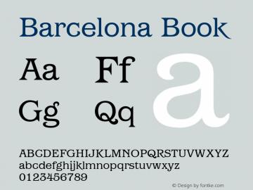 Barcelona Book Version 1.00 Font Sample
