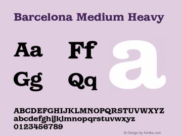 Barcelona Medium Heavy Version 1.00 Font Sample