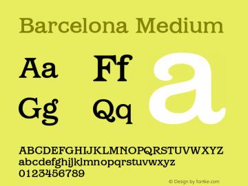 Barcelona Medium Version 1.00 Font Sample