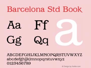 Barcelona Std Book Version 1.000 Font Sample