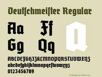 Deutschmeister Font,Deutschmeister W00 Cond Bold Font,Deutschmeister