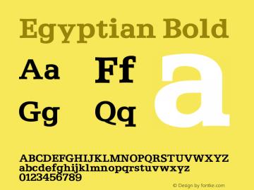 Egyptian Bold 001.000 Font Sample