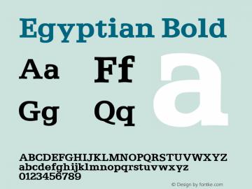 Egyptian Bold Altsys Fontographer 3.5  11/6/92 Font Sample