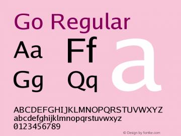 Go Regular Version 2.008; ttfautohint ( Font Sample
