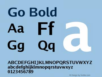 Go Bold Version 2.008; ttfautohint ( Font Sample
