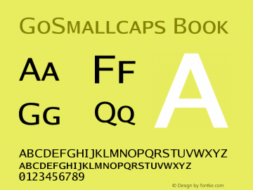 GoSmallcaps Book Version 2.008; ttfautohint ( Font Sample