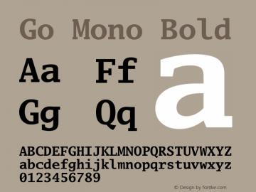 Go Mono Bold Version 2.008; ttfautohint (v1.6) Font Sample