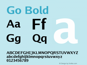 Go Bold Version 2.008; ttfautohint (v1.6) Font Sample