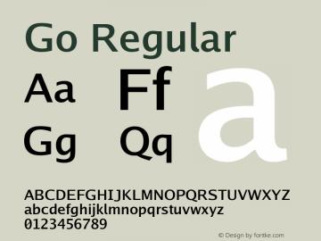 Go Regular Version 2.008; ttfautohint (v1.6) Font Sample