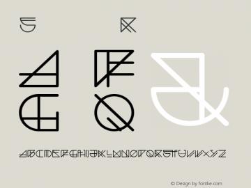 Spacer Regular Version 001.000 Font Sample