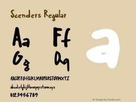 Scenders Regular Version 1.000;PS 001.000;hotconv 1.0.70;makeotf.lib2.5.58329图片样张