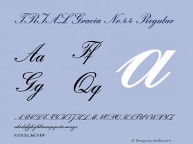 TRIAL Gracia No.44 Regular Version 2.001;PS 2.001;hotconv 1.0.88;makeotf.lib2.5.647800 Font Sample
