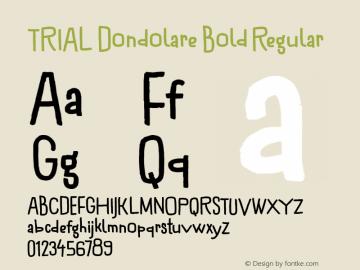 TRIAL Dondolare Bold Regular Version 1.000 Font Sample