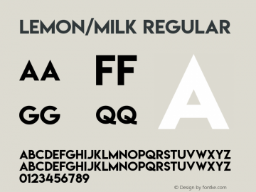 Lemon/Milk Font,LemonMilk Font|Lemon/Milk Version 3 0 Font