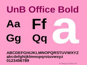 UnB Office Bold Version 1.00 Font Sample