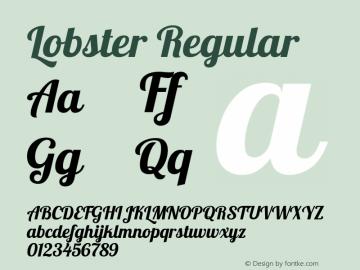 Lobster Regular Version 2.001 Font Sample