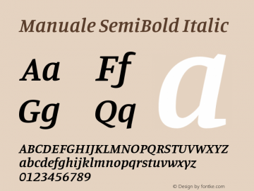 Manuale SemiBold Italic Version 0.075图片样张