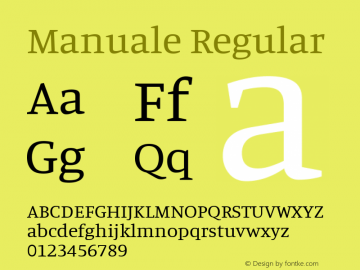 Manuale Regular Version 0.075图片样张