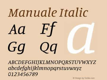 Manuale Italic Version 0.075图片样张