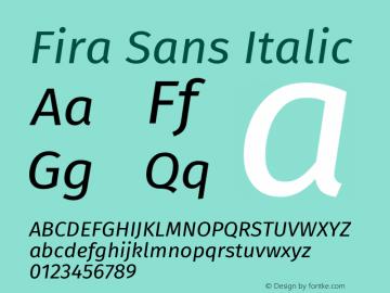 Fira Sans Font,Fira Sans Italic Font,FiraSans-Italic Font