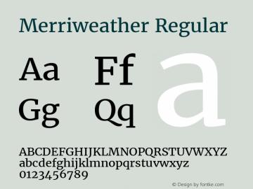 Merriweather Regular Version 2.001 Font Sample