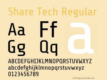 Share Tech Regular Version 1.100图片样张