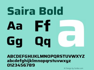 Saira Bold Version 0.072图片样张