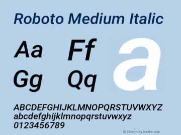 Roboto Medium Italic Version 2.137; 2017图片样张