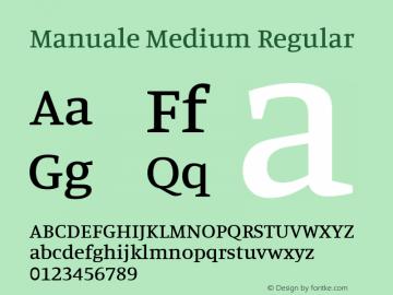 Manuale Medium Regular Version 0.075图片样张