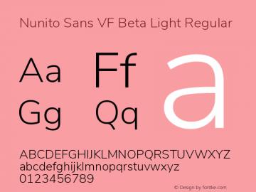 Nunito Sans VF Beta Light Regular Version 2.002 Font Sample