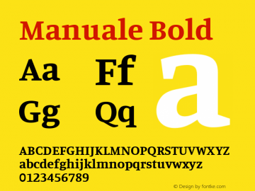 Manuale Bold Version 0.075图片样张