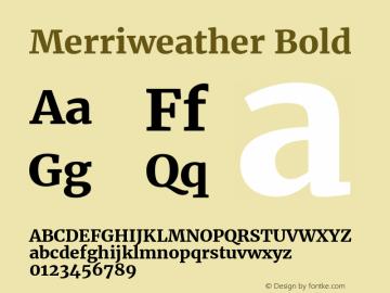 Merriweather Bold Version 2.001 Font Sample