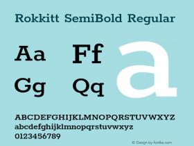 Rokkitt SemiBold Regular Version 3.002图片样张