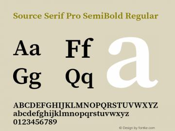 Source Serif Pro SemiBold Regular Version 2.000;PS 1.000;hotconv 16.6.51;makeotf.lib2.5.65220 Font Sample