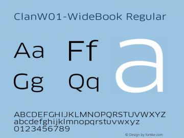 ClanW01-WideBook Regular Version 7.504 Font Sample
