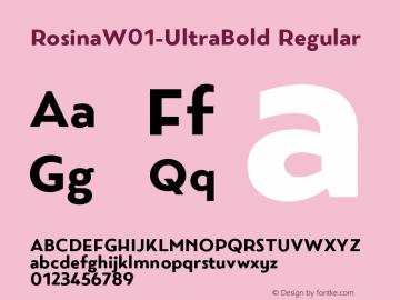 RosinaW01-UltraBold Regular Version 1.10图片样张