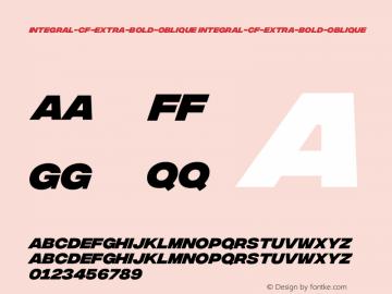 integral-cf-extra-bold-oblique integral-cf-extra-bold-oblique Version 1.000;PS 001.000;hotconv 1.0.88;makeotf.lib2.5.64775 Font Sample