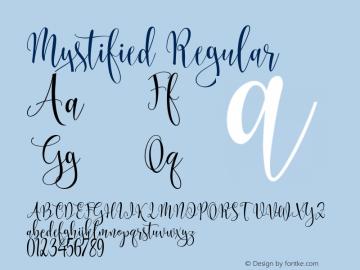 Mystified Regular Version 1.000图片样张