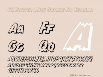CCMonster Mash Outline-Rg Regular Version 2.00图片样张